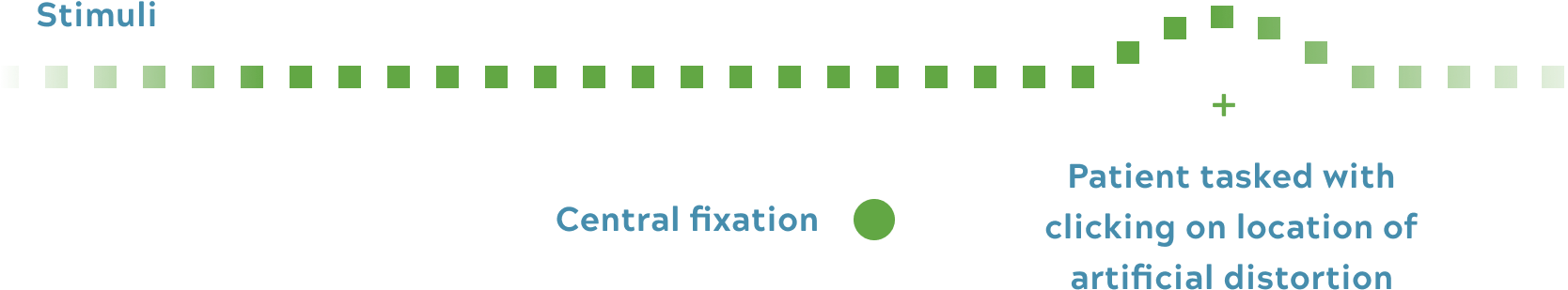 Testing central fixation illustration desktop